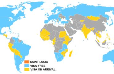 圣卢西亚护照免签国家汇总